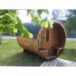 Sauna nórdica 195x300 en Avet tractat Thermowood