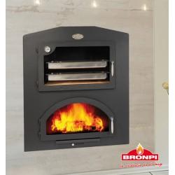 Sierra-E-Inox forn a llenya metàl·lic